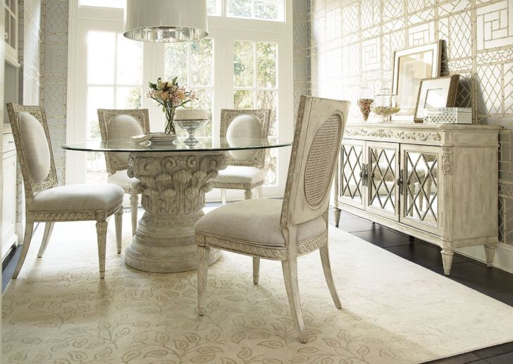 Jessica McClintock Romance Boutique Round Dining Table Furniture