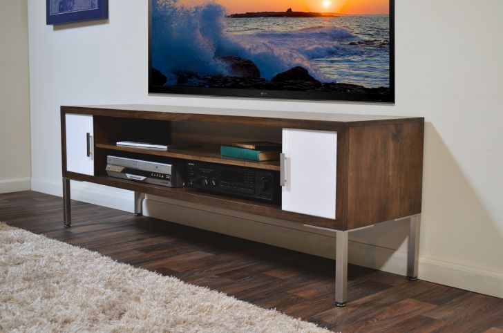 Mid Century Modern Media Console Modern Handcrafted Media Console Tv Stand Terra Mar Clove with Genuine Hand Selected Rustic Maple Veneer and Solid Poplar plus Beautiful Clove Colored Finish