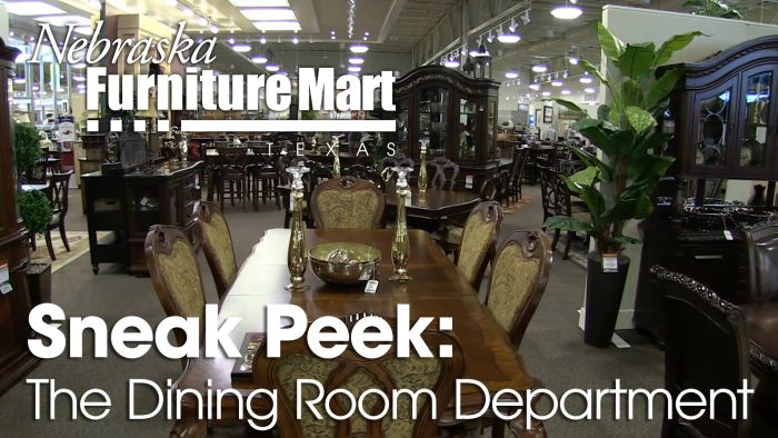 Nebraska Furniture Mart Texas DIning Room Department