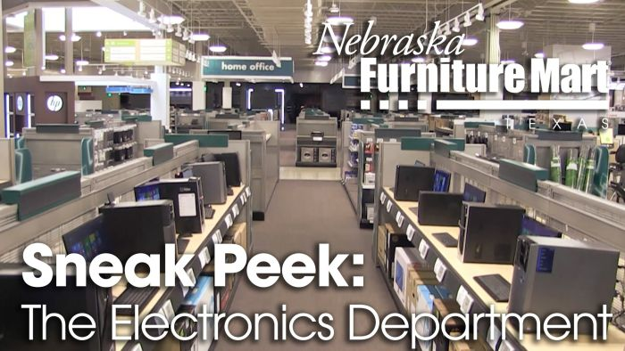 Nebraska Furniture Mart Texas Electronics Department