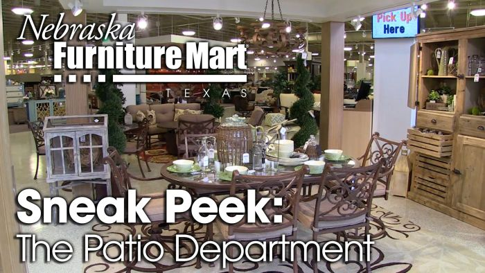 Nebraska Furniture Mart Texas Patio Department