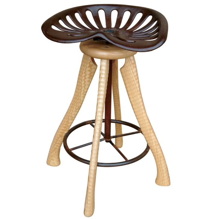 Woodworking Barstools with Tractor Seating