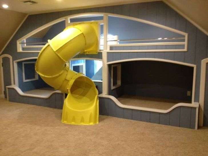 Amazing Double Bunk Beds- with Tunnel Slide