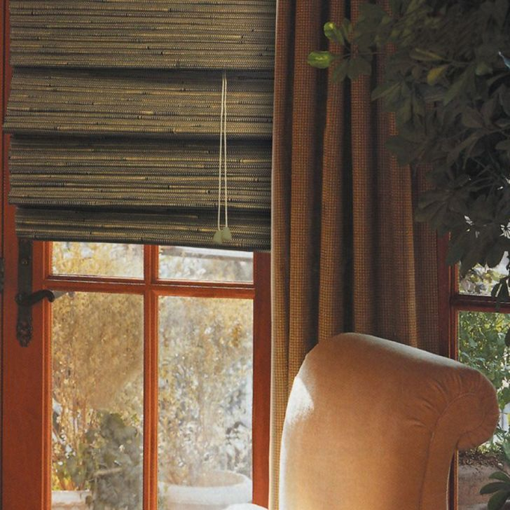Bamboo Roman Shades Tahiti-Green Tea For Sliding Glass Doors Lowes
