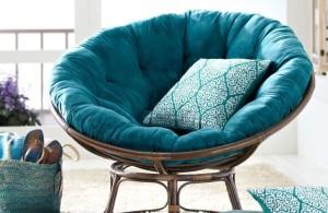Rattan Papasan Chair Blue Papasan Rattan Chair Pillow by Pier One