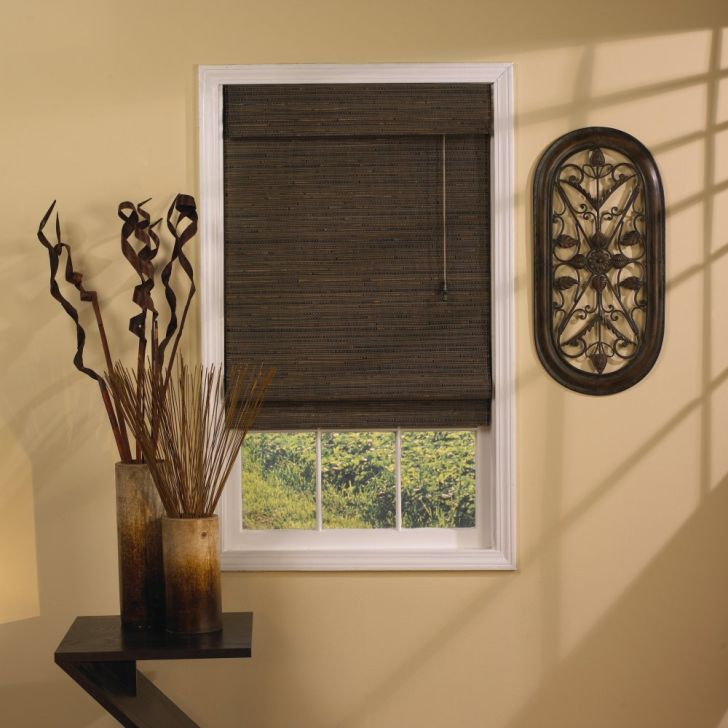 Brown Bamboo Vertical Blinds For Sliding Glass Doors From Ikea