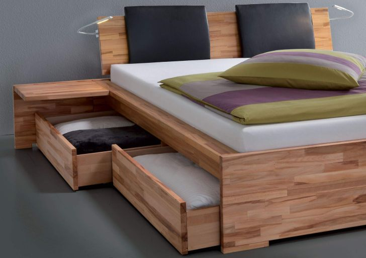 Creative Design of Underbed Storage Drawers ideas with Wooden Desk and Headboard