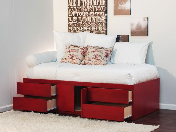Great Inspiration Underbed Storage Drawers Underneath in red Color