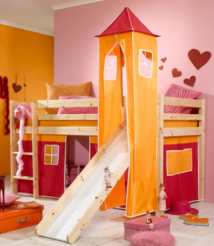 Nice Bunk Beds with Slide for Girls with Slide