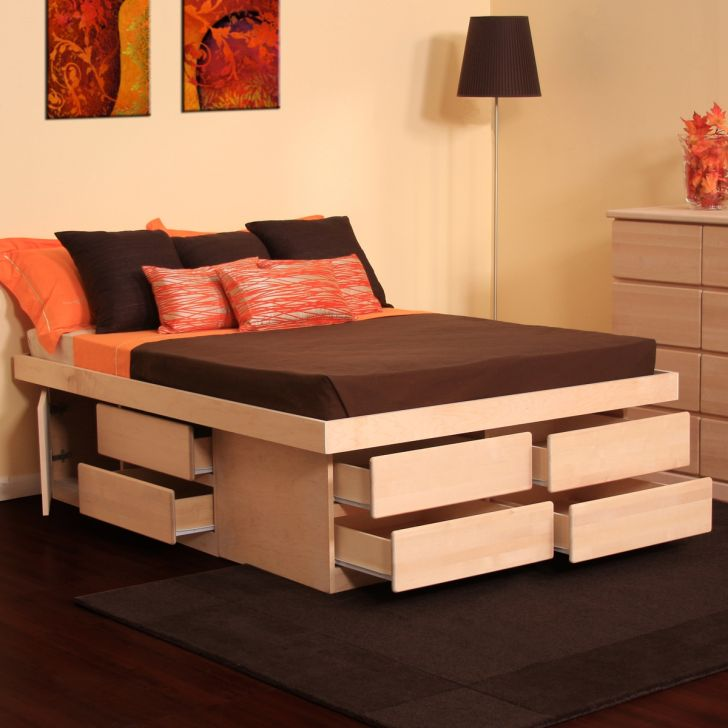 Sleek and Awesome Under the Bed Drawers with Storage Ideas