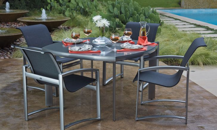 Woodard Metropolis Patio Furniture Collection with Stainless Frame