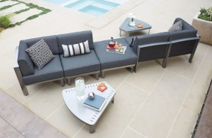 Woodard Metropolis Sectional Patio Furniture Collection