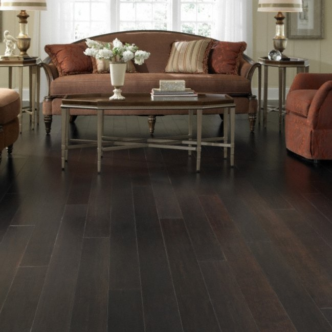 Morning Star French Roast Click Strand Bamboo Flooring