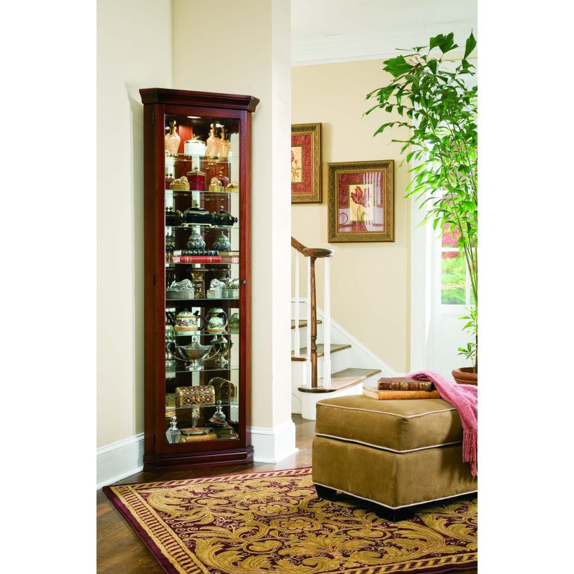 Stunning Keepsakes Victorian Cherry Wood Corner Curio Bar Display Cabinet Corner Curio Cabinet Ikea