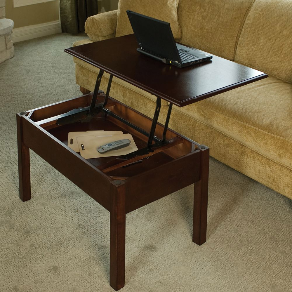 diy pop-up coffee table which transfor to be a laptop desk or game table