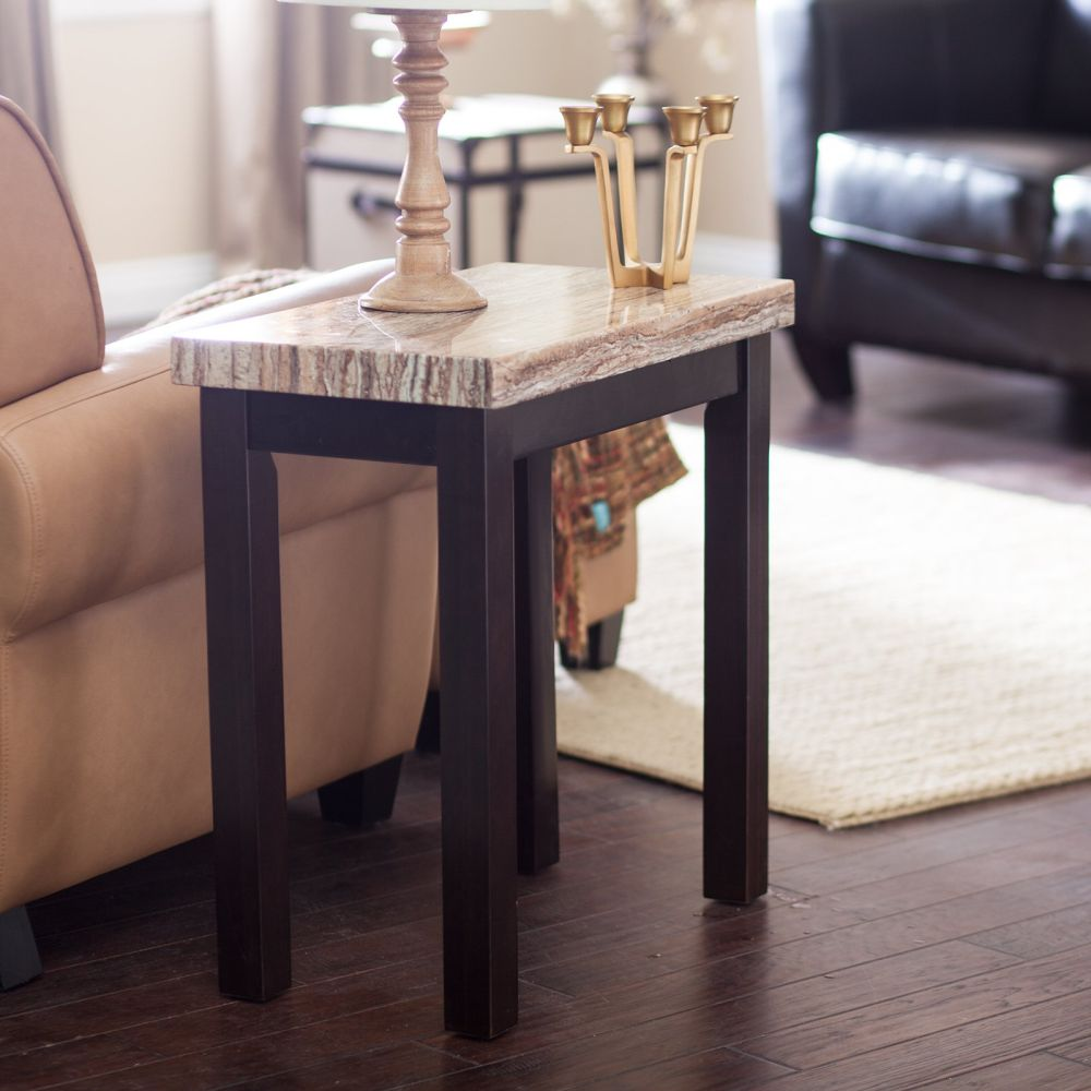 best placement marble top end tables with armchair as good friend for you to relax