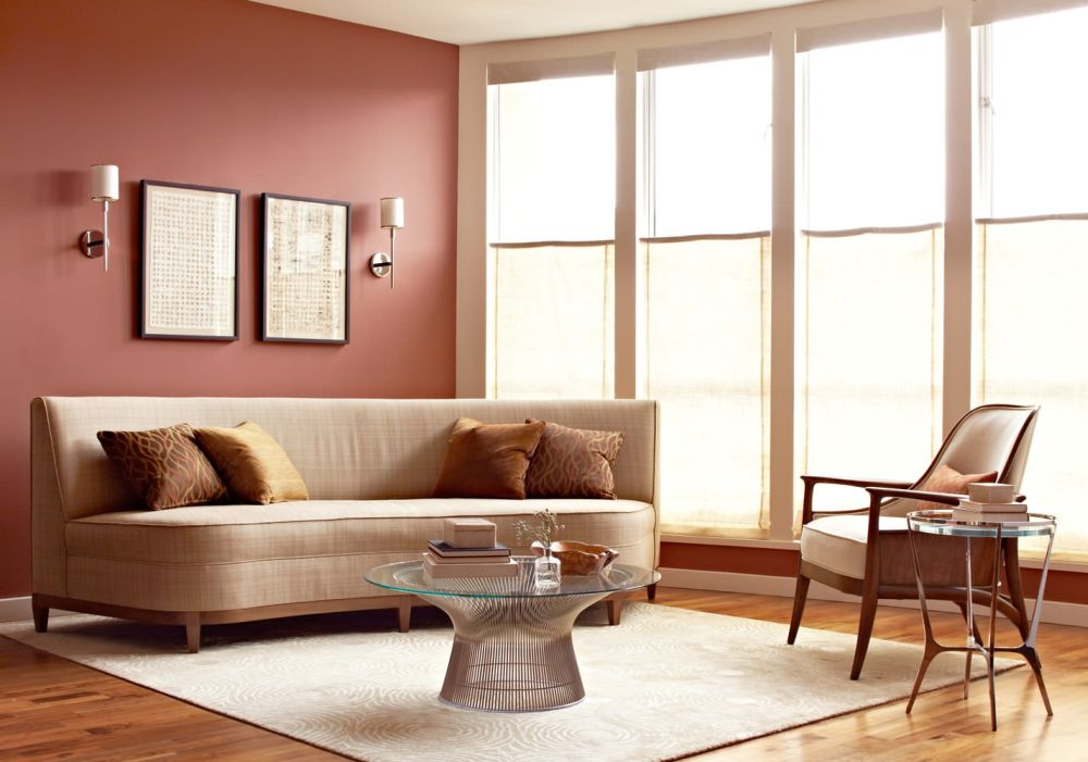 charm platner coffee table with glass top and brown sofa perfect for modern living room