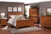 country tropical atmosphere mission bedroom style with flat wooden headboard and vanity sets