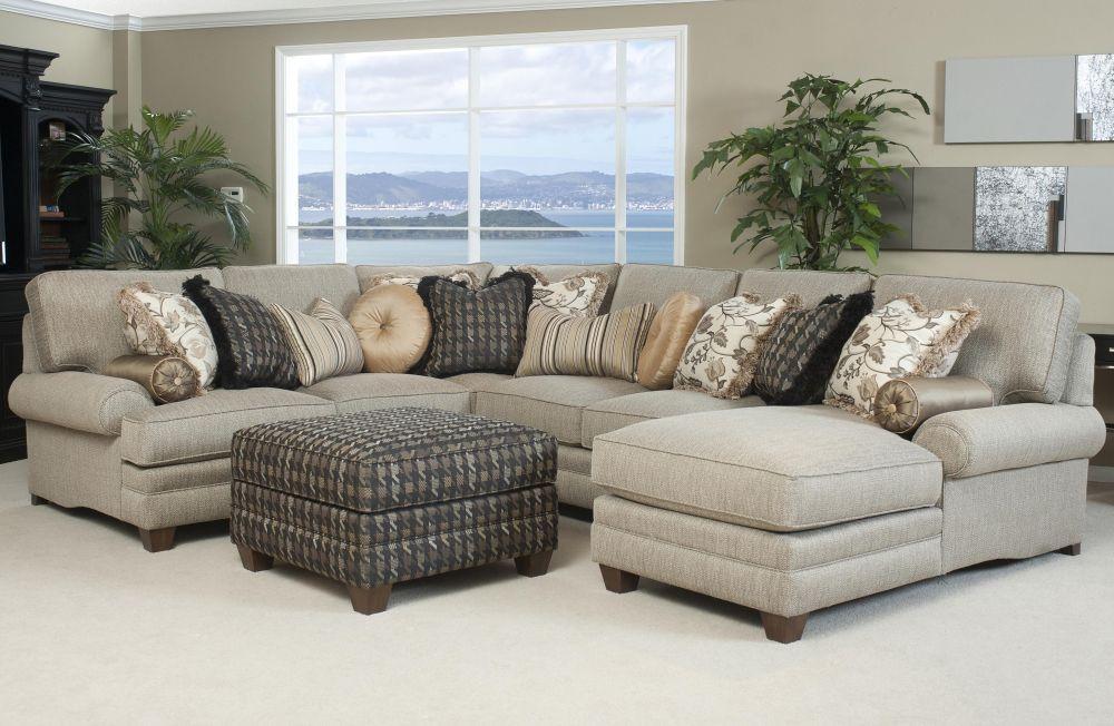 Cream Microfiber Sofa Design with Light Cushion and Single Additional Chair