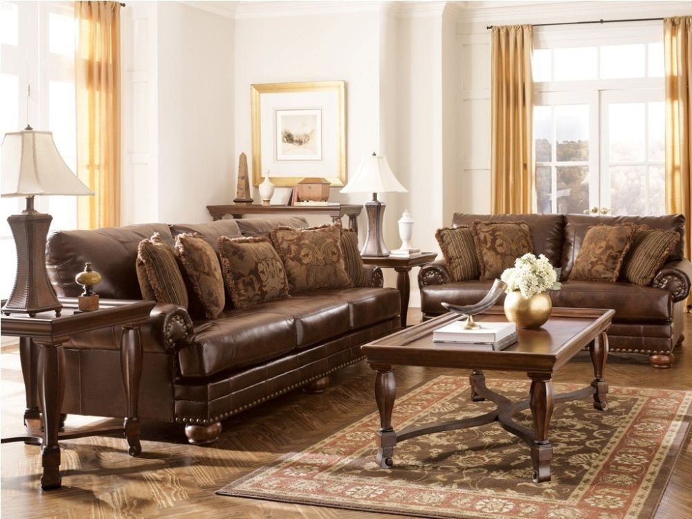 elegant comfort country style living room furniture for sale with leather sofa sets and wooden side table