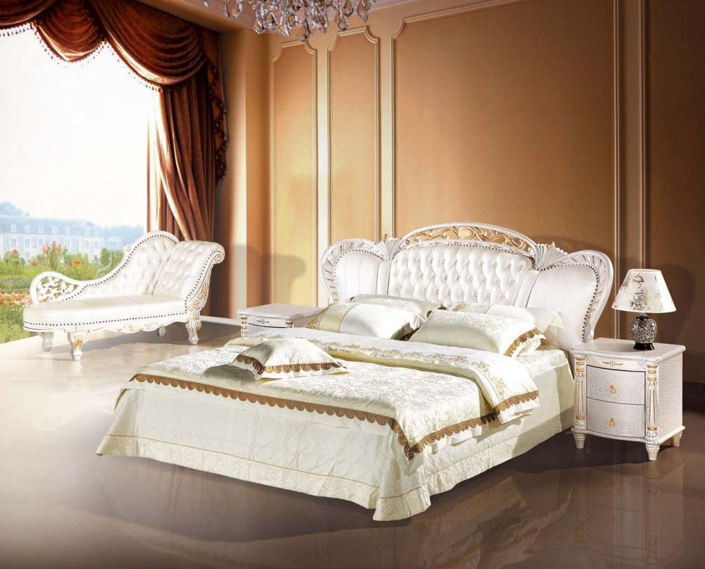 elegant retro queen bedroom ideas with pine wood bedframe and used light wood materials also white ottoman