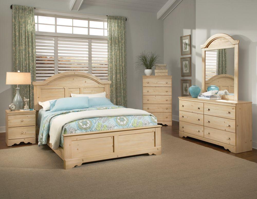 Comfortable Light Wood Bedroom Furniture