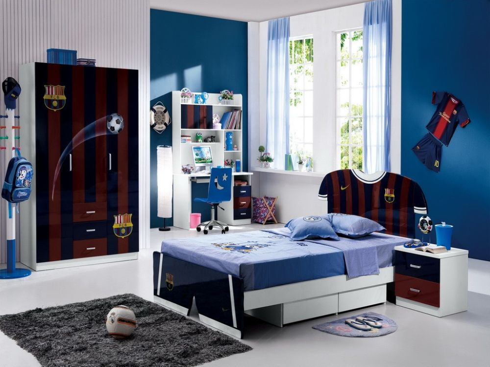 locker bedroom furniture for boys with football theme furniture