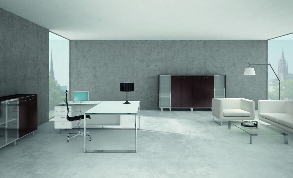 luxurious office design with modern furniture and white sofa mix the footage with comfortable detail