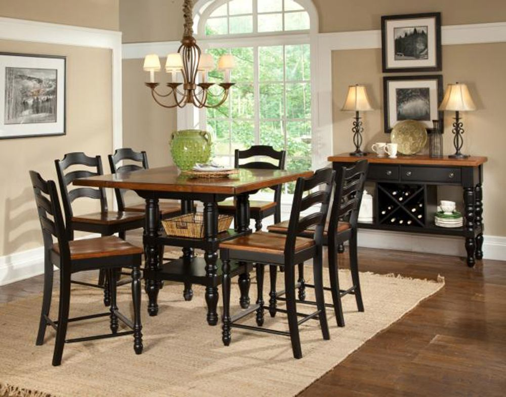 midcentury dining set with pub style and traditional carving legs plus laminate top