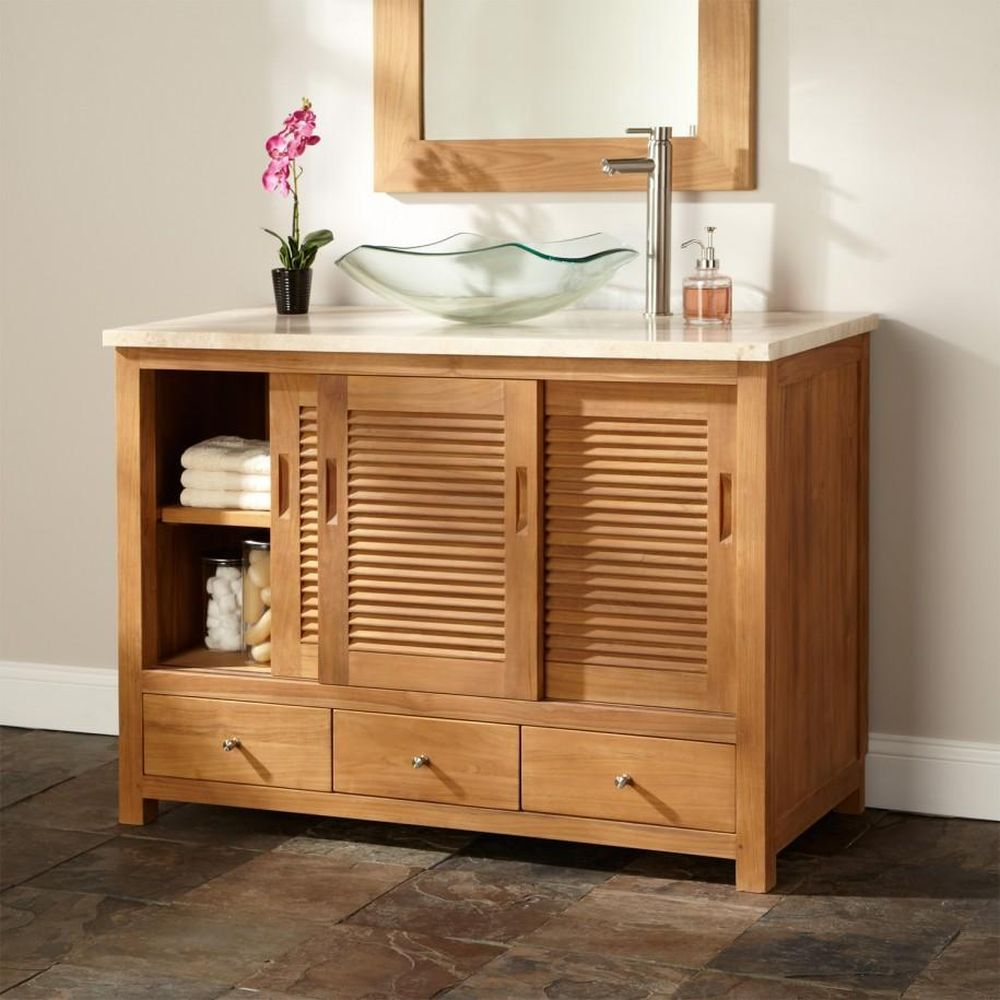 natural beige wooden vanity design from Menards with Scandinavian bathroom idea and sliding carved doors bathroom vanities menards