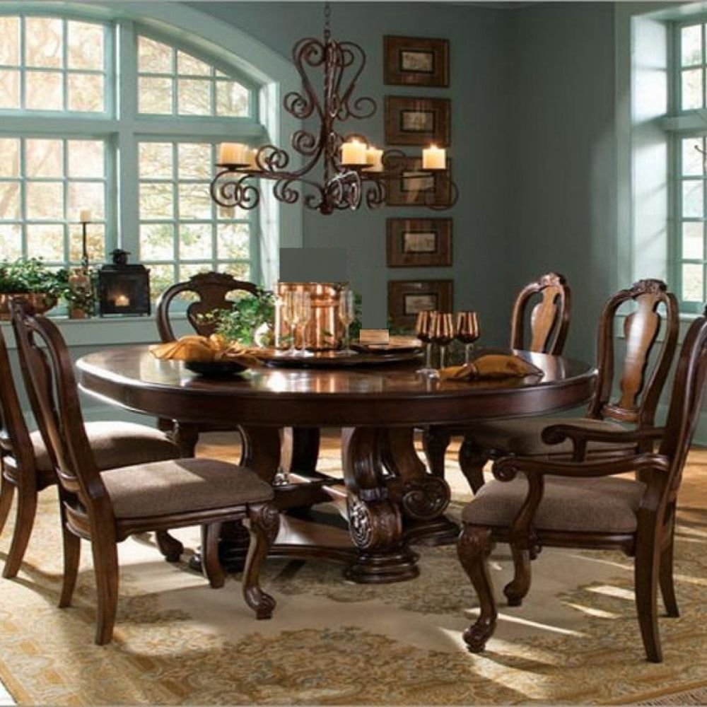 blue dining room combines with shabby chic waverly area rug and the impressive rustic chandelier having round dining room tables for 6 and 8 describing your uninterrupted relationship