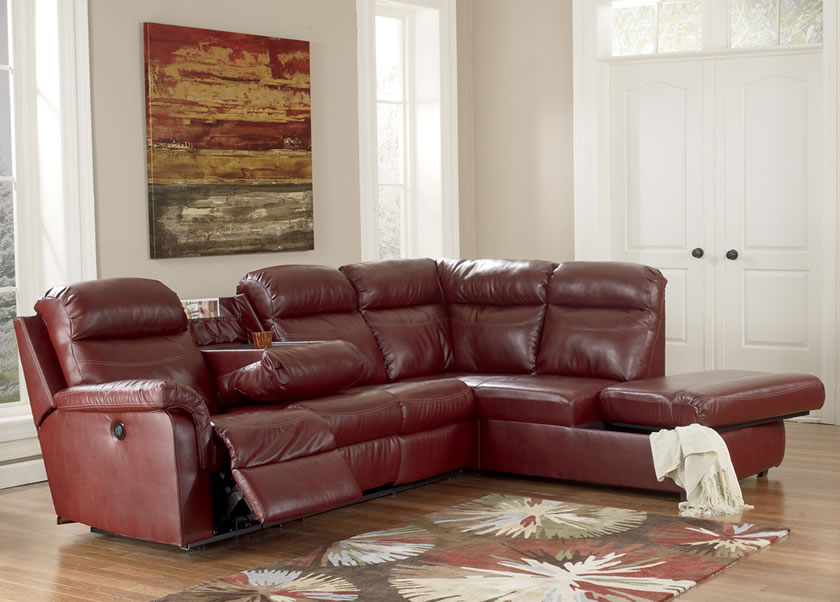 brown leather sectional sleeper sofa with recliner and small table on it awesome sectional sofas with recliners for living room design