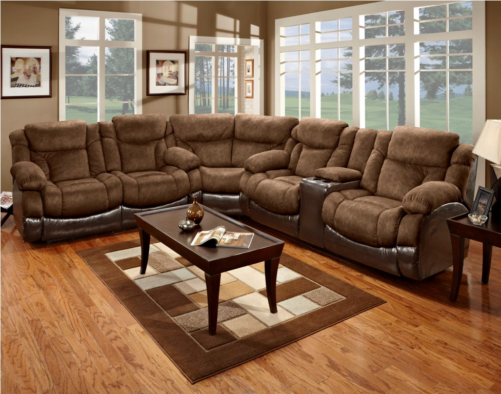 Dark Brown Microfiber Sectional Sofa With Recliner And Chaise Awesome Sectional  Sofas With Recliners For Living