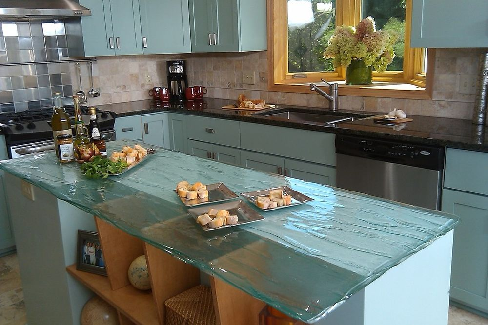 exotic frosted glass table in contemporary country kitchen style with alluring island table replacement glass table tops
