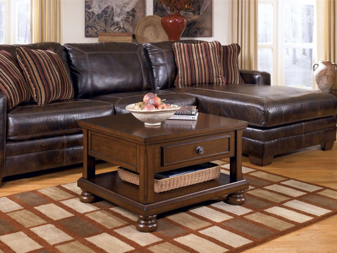 l-shaped dark brown leather sofa with wooden coffee table for living room rustic dark brown leather sofas: great investment for warm and welcoming living rooms