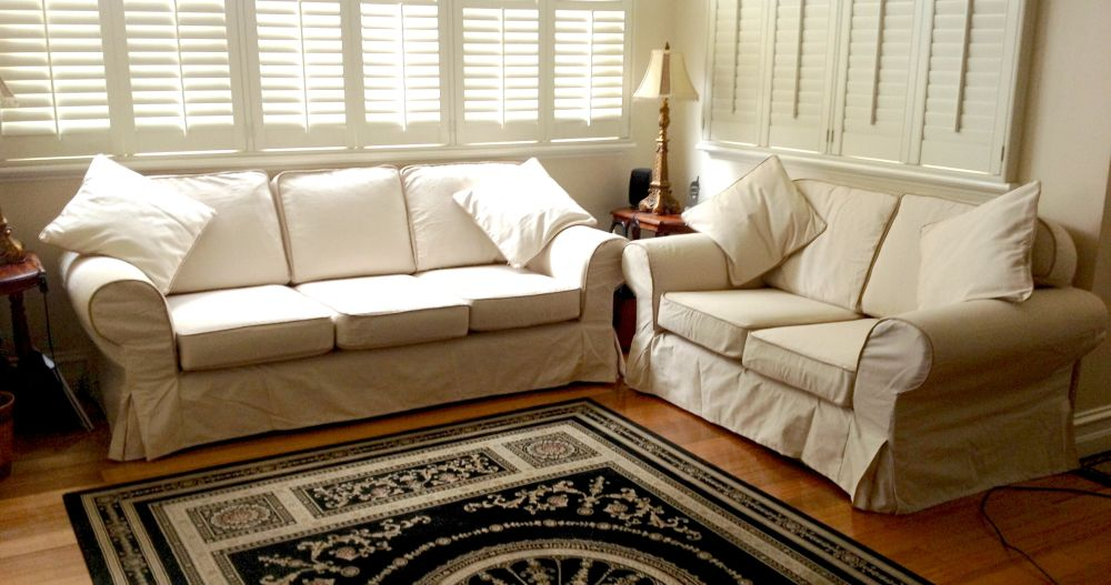 marys custom made sofa covers contrast piping plus custom pottery barn basic sofa slipcovers with love seat and 3 seater with contrast cordings slip covered sofas - offers design for easy to clean style