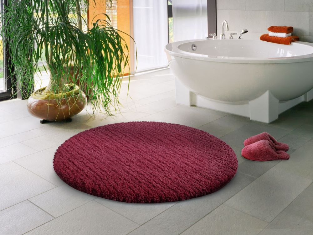 round purple rug in spa theme bathroom round bathroom rugs