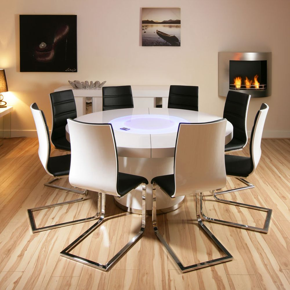 white dining room with curvy arrangement padded chairs having round dining room tables for 6 and 8 describing your uninterrupted relationship