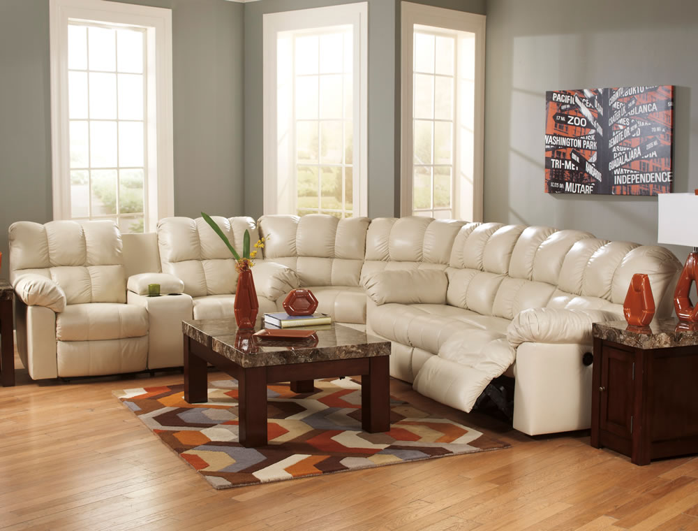 white leather sectional sofa with recliner and sleeper plus side table with storage awesome sectional sofas with recliners for living room design