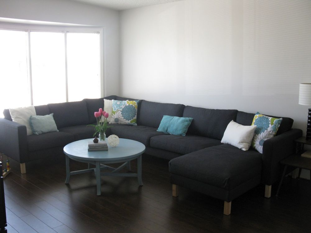 Black Slipcovers for Sectional Couches with Round Coffee Table Slip Covered Sectional Sofa Design with Some Tips to Choose Colors