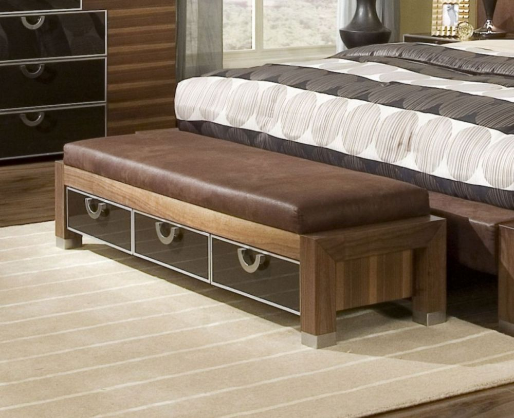 classic storage bench in rectangle shape with three sleek dark glass drawers and gable banisters dashing storage bench for bedroom that giving compact outlook and new nuance