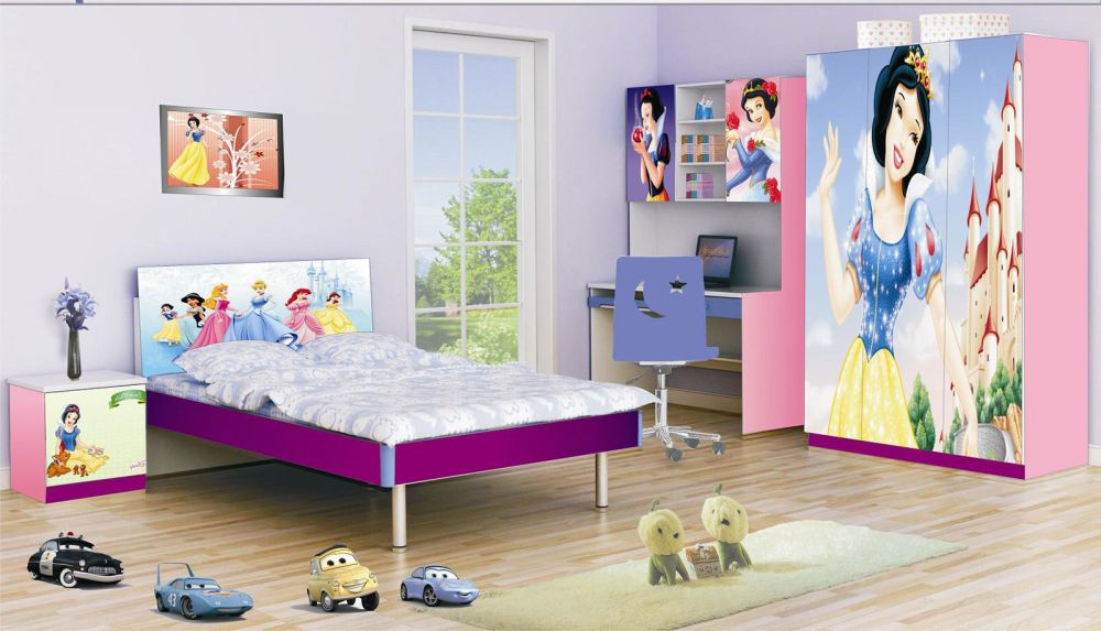 disney bedroom furniture with cuteplatform bed and disney wall arts pretty teen girl bedroom furniture designs