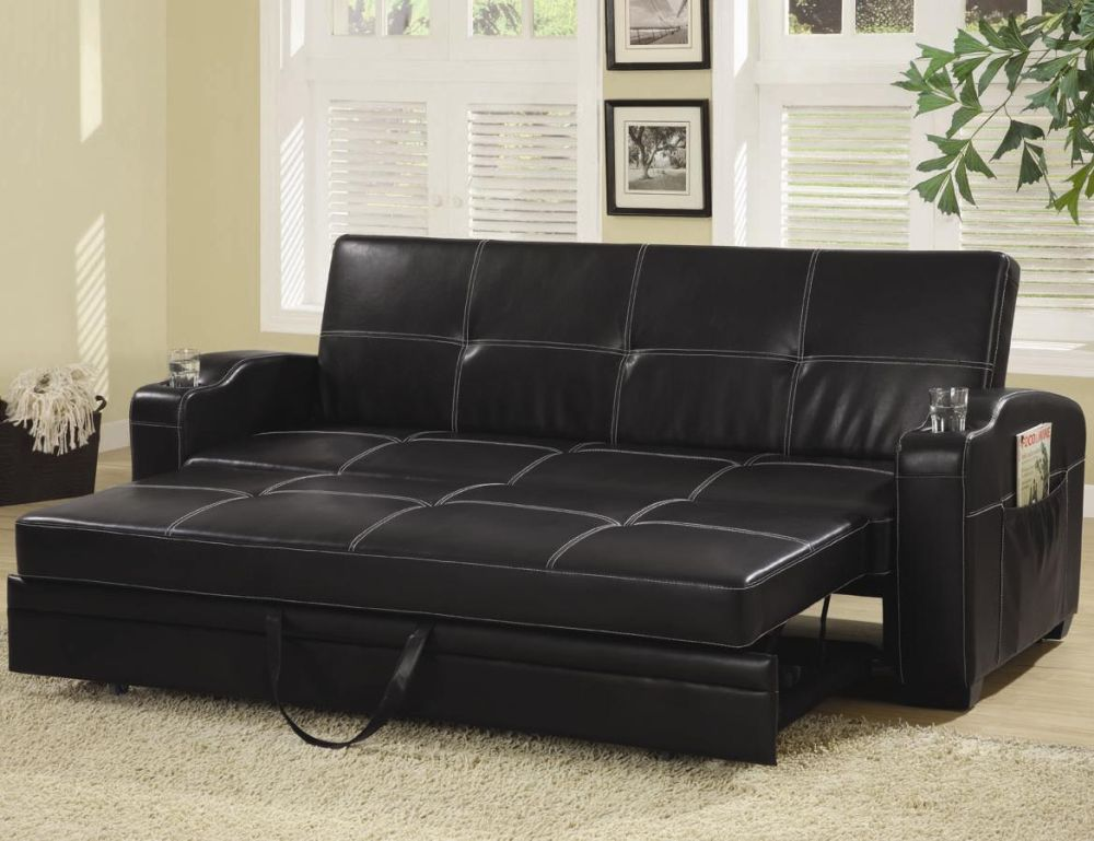 ikea sleeper sofa with chaise and smooth chenille cushion in black tone more comfortable living room using ikea sleeper sofas