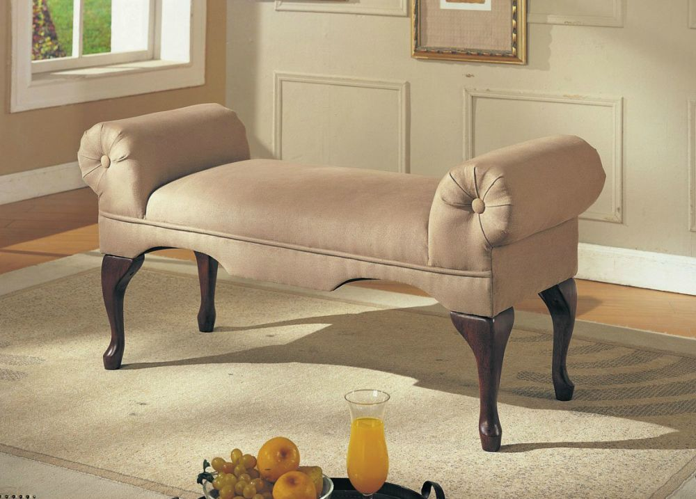 luxurious couch idea designed like a bench with no backrest small couches for bedroom