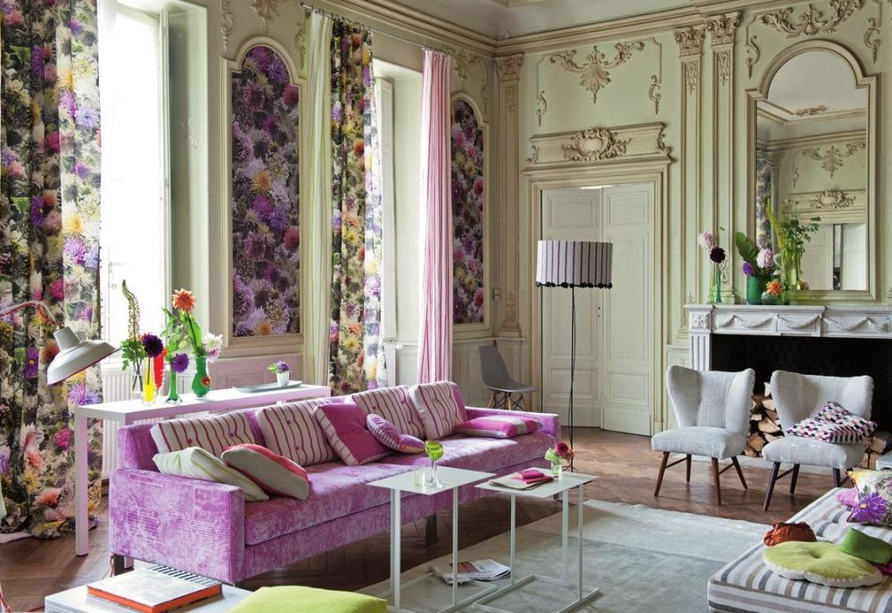 Spring Decorating Ideas for Living Room with Floral Room Theme and Comfort Sofa Comely Spring Decorations for the Home making you reluctant to leave it