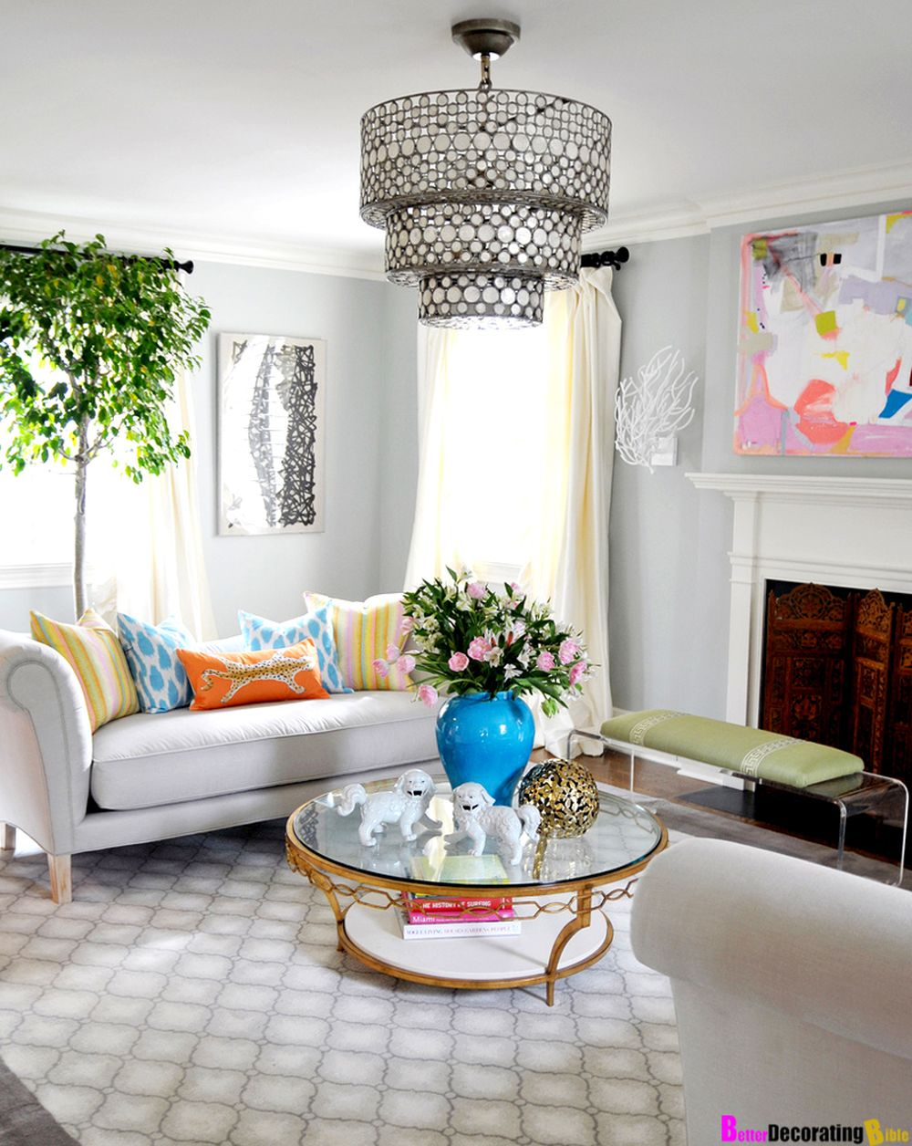 spring decoration living room with white sofa and coffee table also wall decor plus window treatment comely spring decorations for the home making you reluctant to leave it