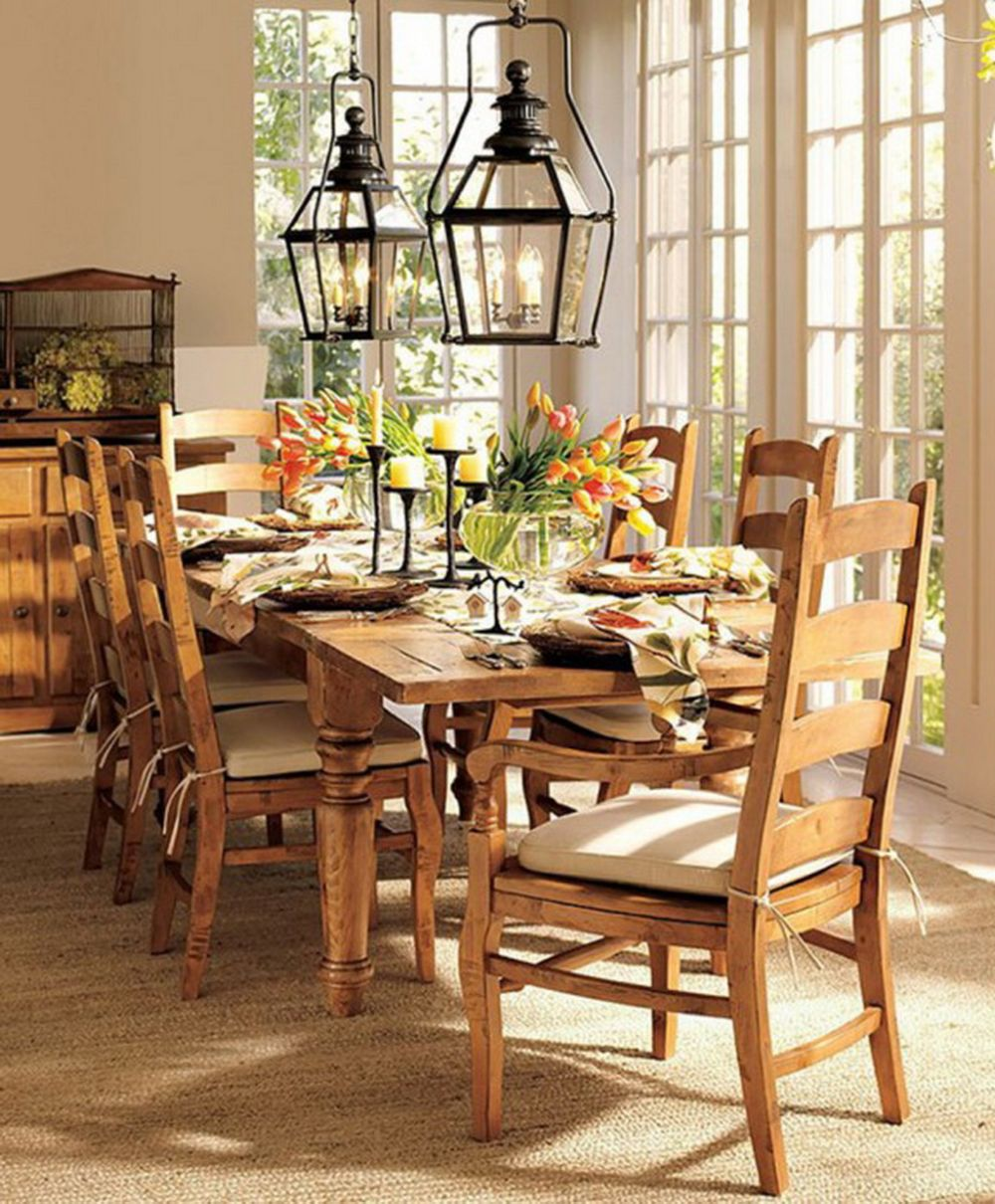 spring dining room decoration with rustic black candlesticks and custom extensive brown wooden table comely spring decorations for the home making you reluctant to leave it