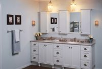 bathroom vanity used for sale with white painting and two sinks plus mirrors outstanding used vanity for bathroom design