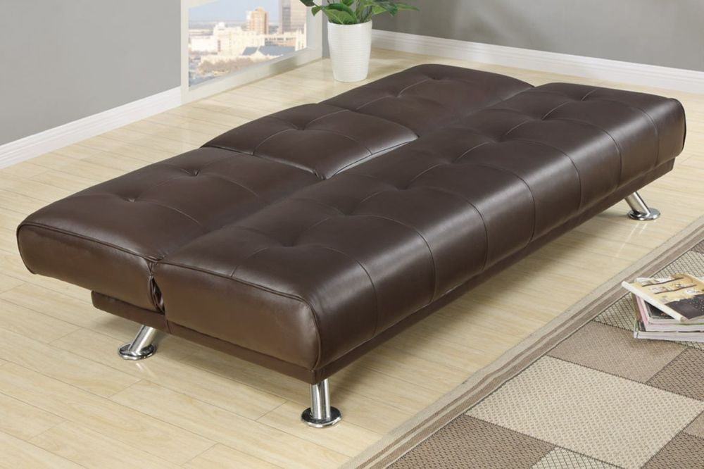 brown lather twin size sofa bed with steel legs using modern twin size sofa bed ideas for surprising creative space