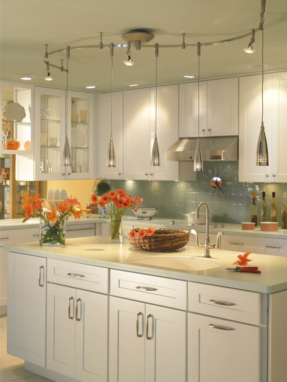 illuma-flex track lighting by progress lighting track lighting for kitchen shows how to shine the vibe perfectly